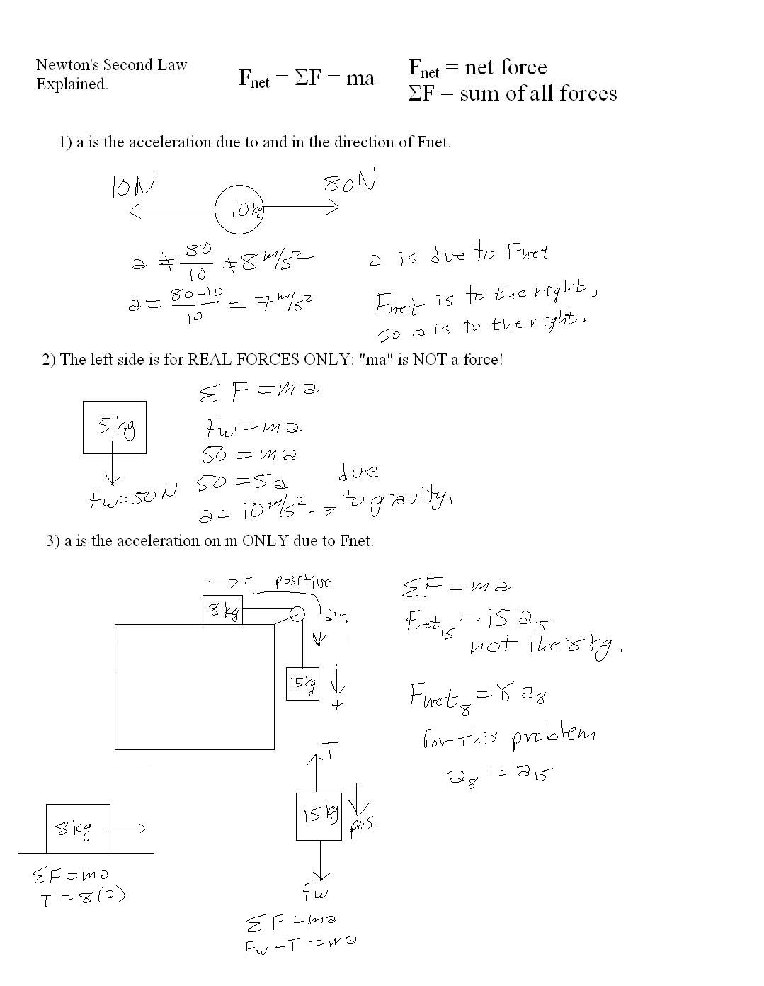 Mr Murrays Website Two Dim Motion – Newtons Laws Worksheet