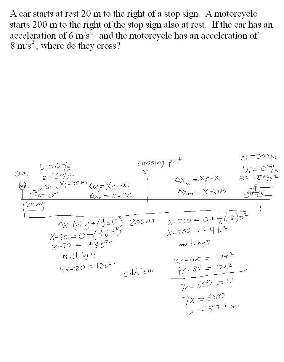 Worksheets Ipc Worksheets mr murrays website one dimensional motion notes moving opposite directions with acceleration