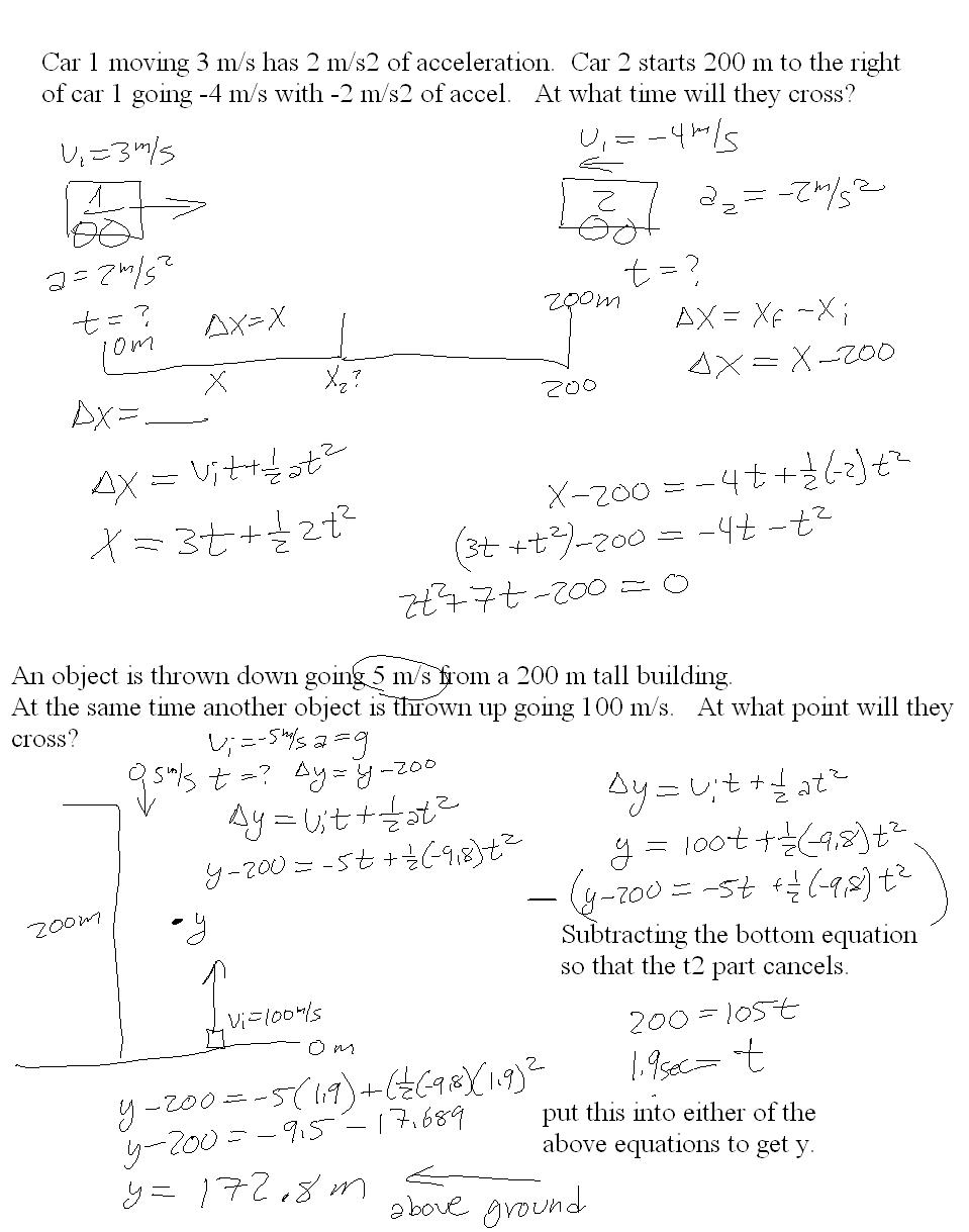 Uncategorized Ipc Worksheets mr murrays website one dimensional motion notes examples with acceleration two more examples